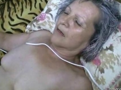 Horny grey old granny gets fucked hard