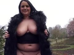 Bbw babe SarahJanes public flashing and outdoor e