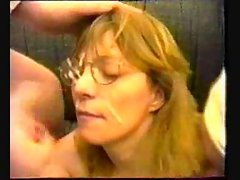 French mature gets her medicine from two doctors